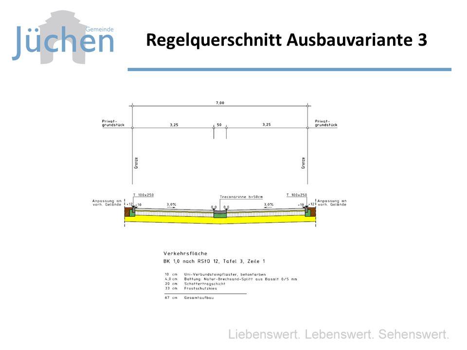 Regelquerschnitt Ausbauvariante 3