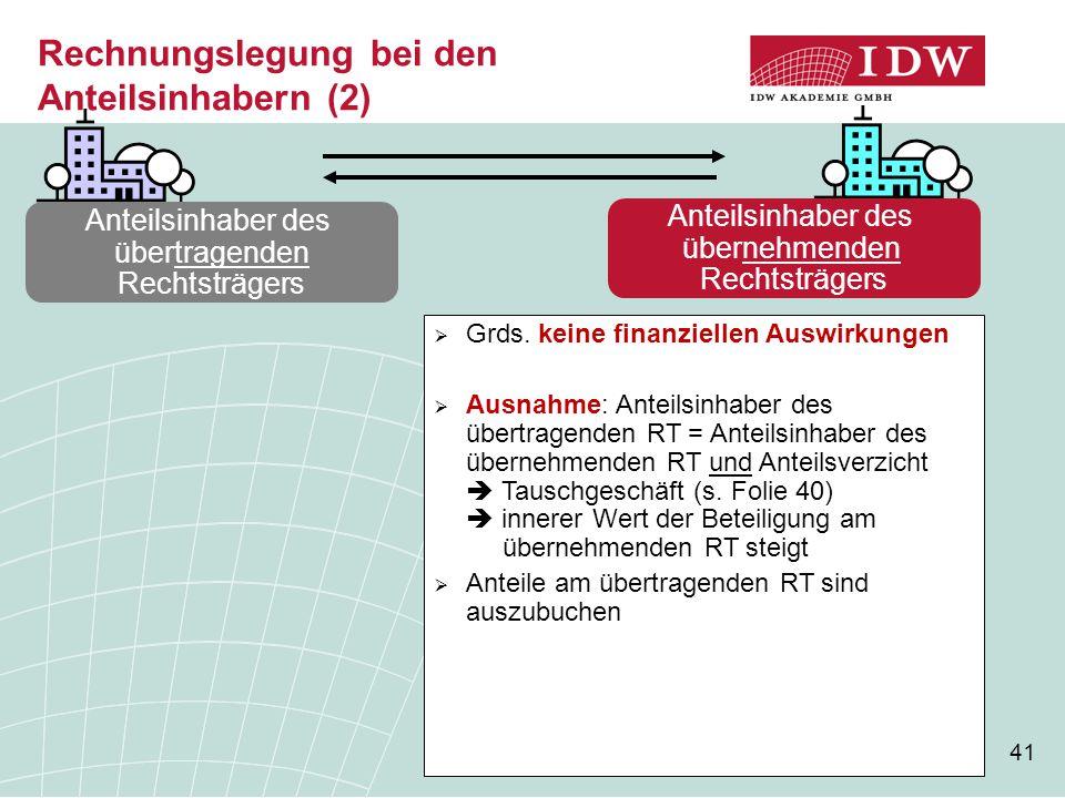 Rechnungslegung bei den Anteilsinhabern (2)