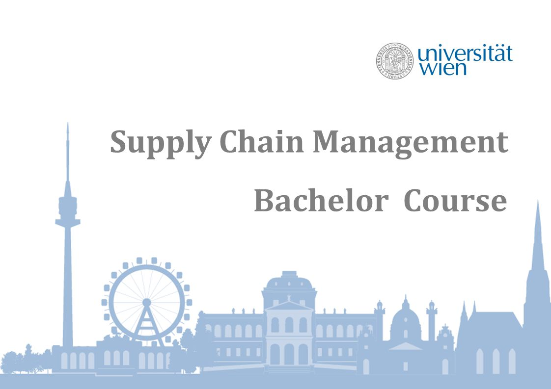 Supply Chain Management Bachelor Course