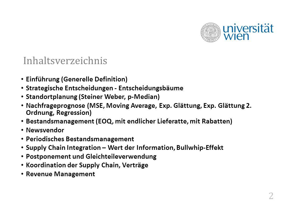 Inhaltsverzeichnis Einführung (Generelle Definition)