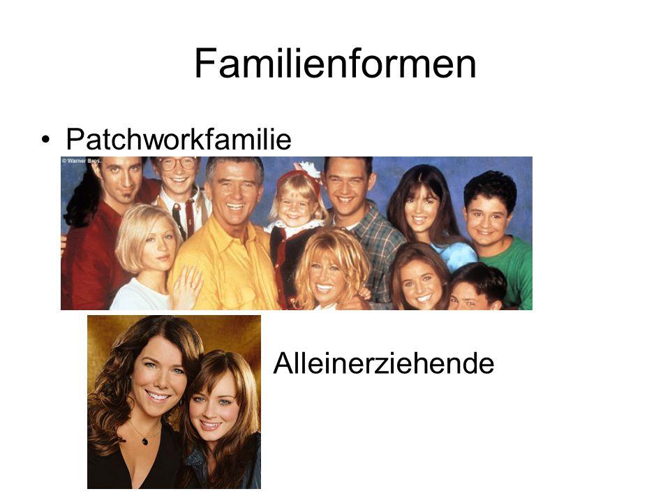 Familienformen Patchworkfamilie Alleinerziehende