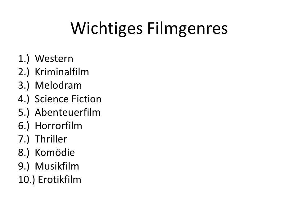 Wichtiges Filmgenres