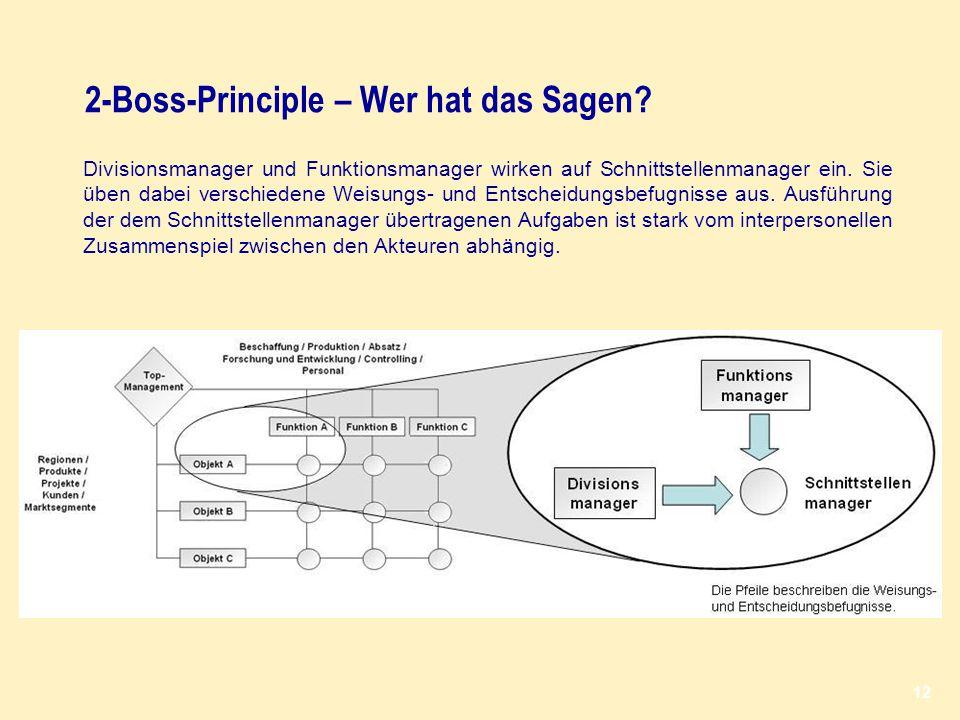 2-Boss-Principle – Wer hat das Sagen