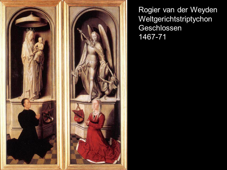 Rogier van der Weyden Weltgerichtstriptychon Geschlossen 1467-71