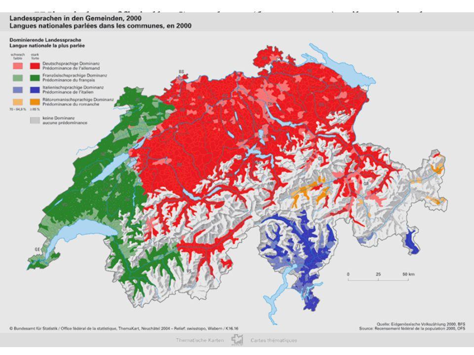 Wieviele offizielle Sprachen (languages) gibt es in der Schweiz ( = )