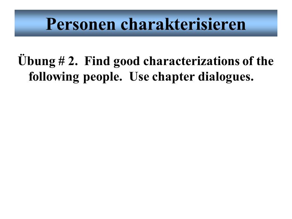 Personen charakterisieren