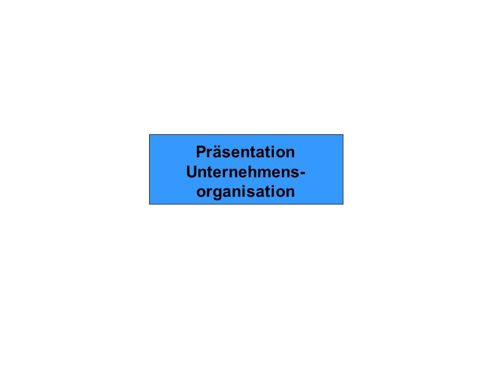 Präsentation Unternehmens- organisation