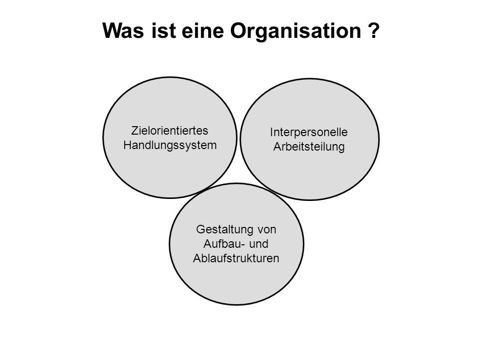 Was ist eine Organisation