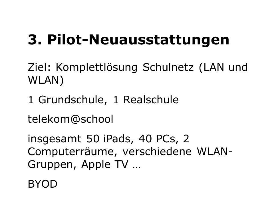3. Pilot-Neuausstattungen