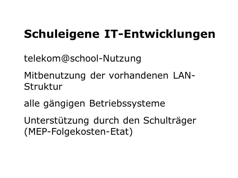 Schuleigene IT-Entwicklungen