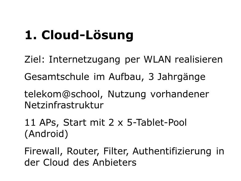 1. Cloud-Lösung Ziel: Internetzugang per WLAN realisieren