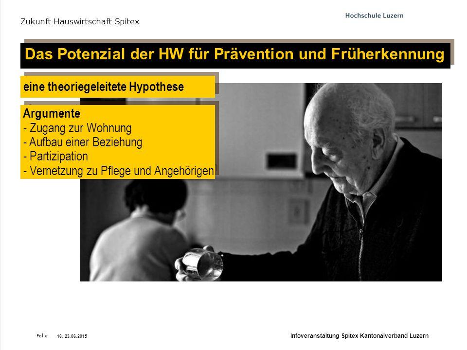Das Potenzial der HW für Prävention und Früherkennung
