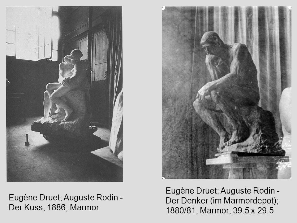 Eugène Druet; Auguste Rodin - Der Denker (im Marmordepot); 1880/81, Marmor; 39.5 x 29.5