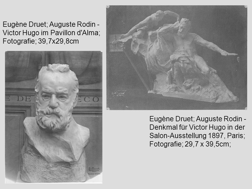 Eugène Druet; Auguste Rodin - Victor Hugo im Pavillon d Alma; Fotografie; 39,7x29,8cm