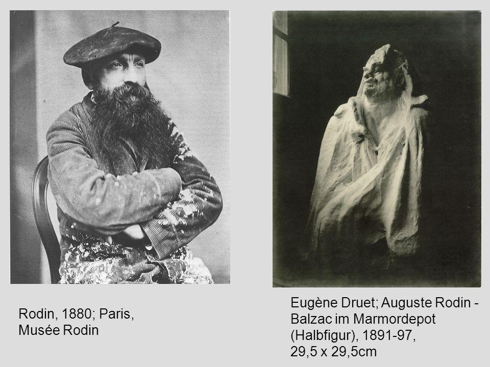 Eugène Druet; Auguste Rodin - Balzac im Marmordepot (Halbfigur), 1891-97, 29,5 x 29,5cm
