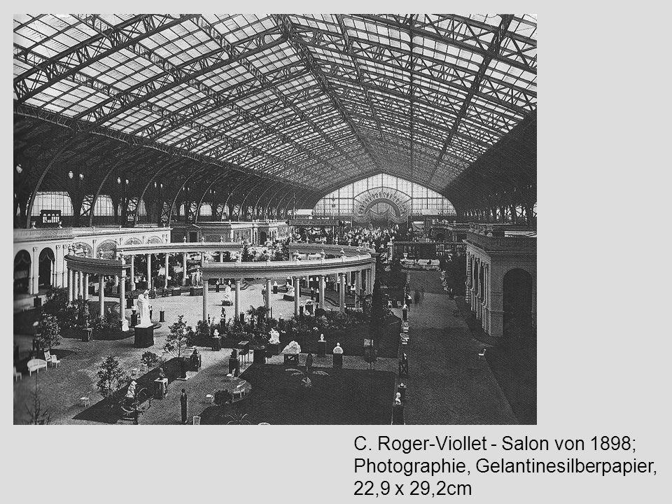 C. Roger-Viollet - Salon von 1898; Photographie, Gelantinesilberpapier, 22,9 x 29,2cm