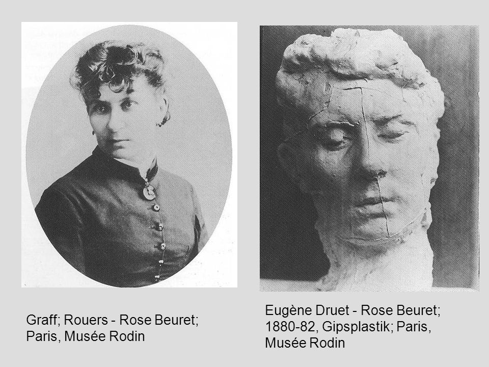 Eugène Druet - Rose Beuret; 1880-82, Gipsplastik; Paris, Musée Rodin