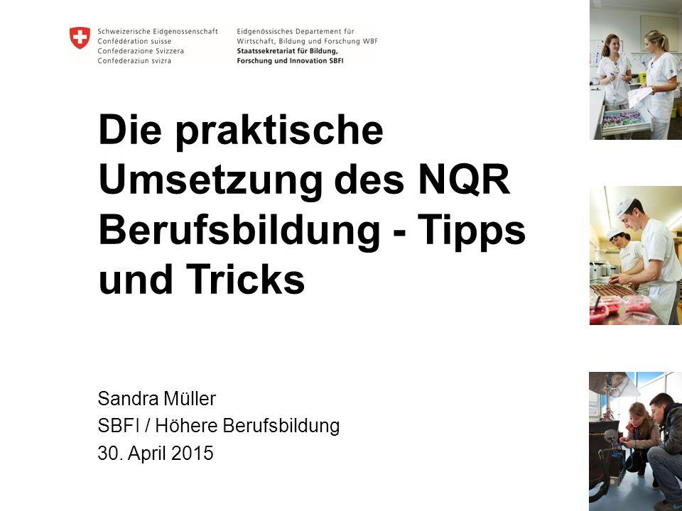 Die praktische Umsetzung des NQR Berufsbildung - Tipps und Tricks