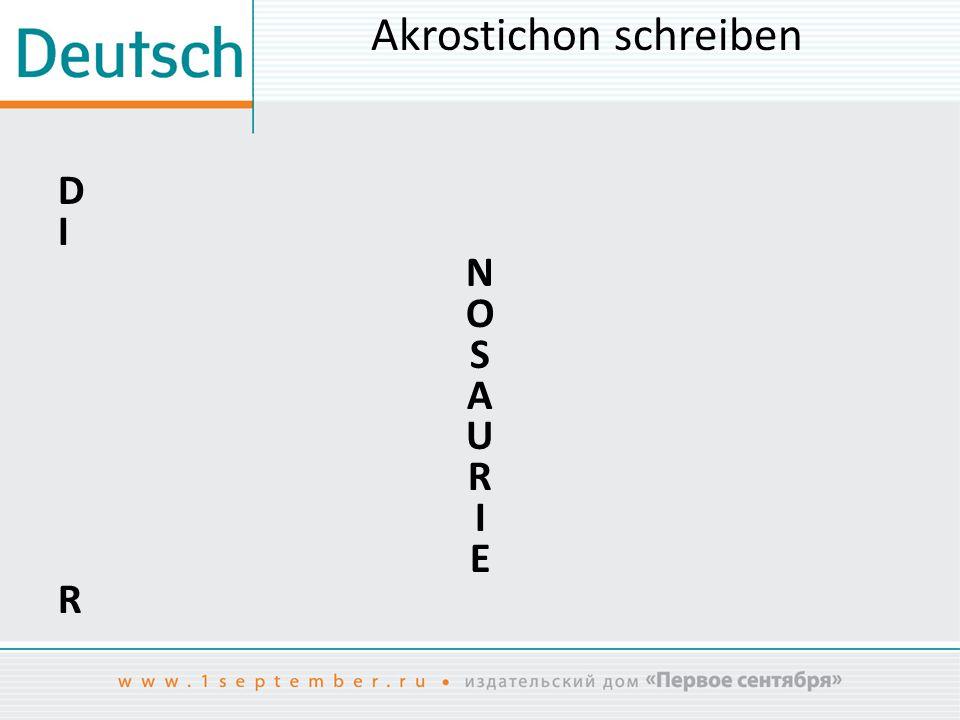 Akrostichon schreiben