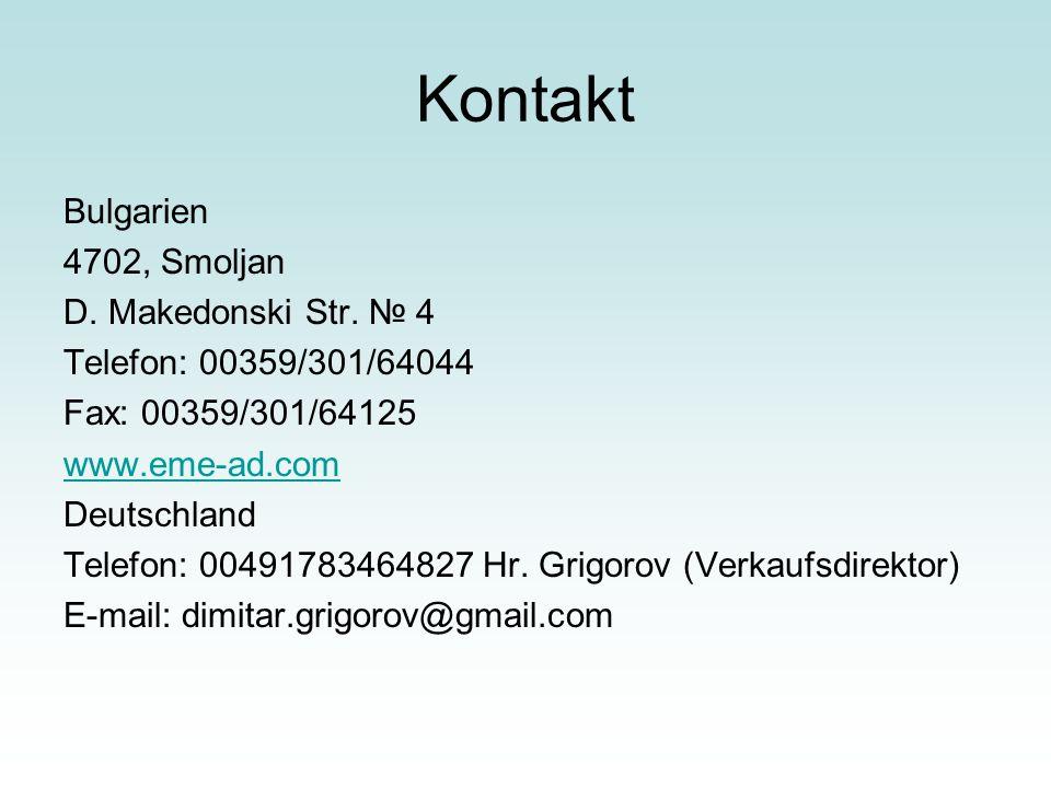 Kontakt Bulgarien 4702, Smoljan D. Makedonski Str. № 4