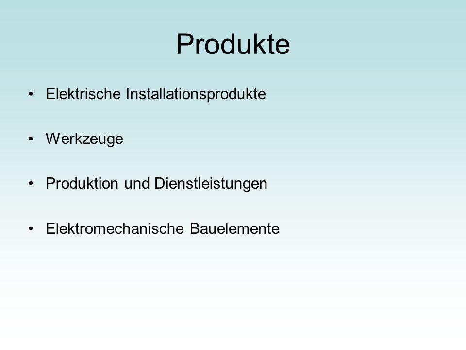 Produkte Elektrische Installationsprodukte Werkzeuge