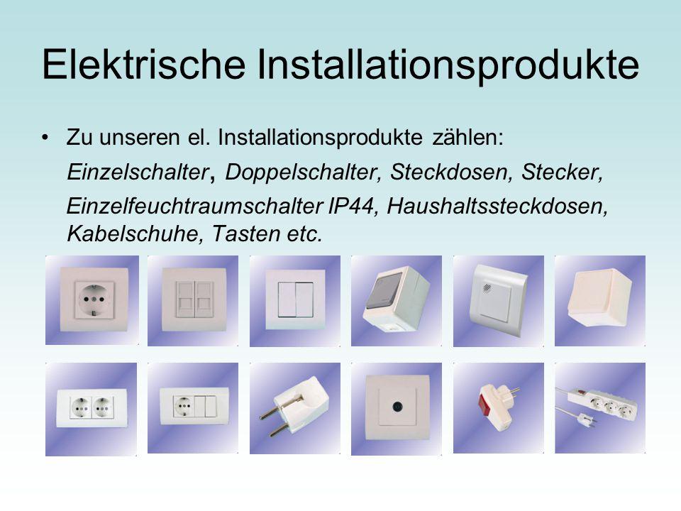 Elektrische Installationsprodukte