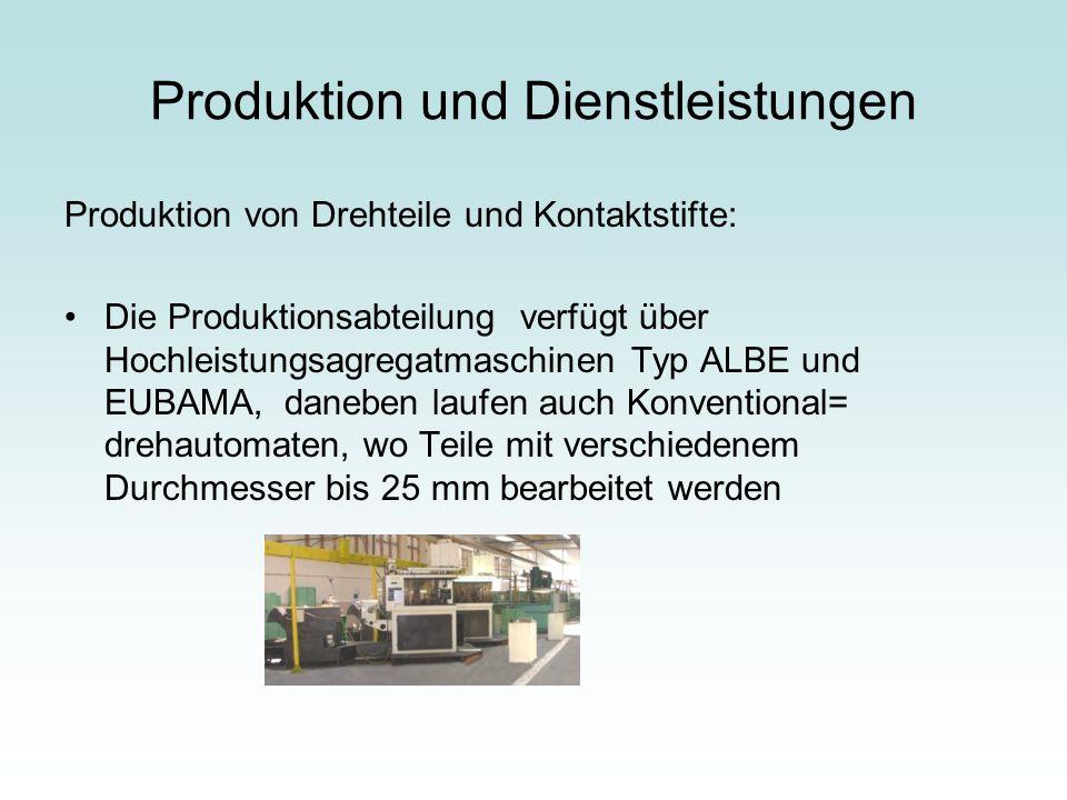 Produktion und Dienstleistungen
