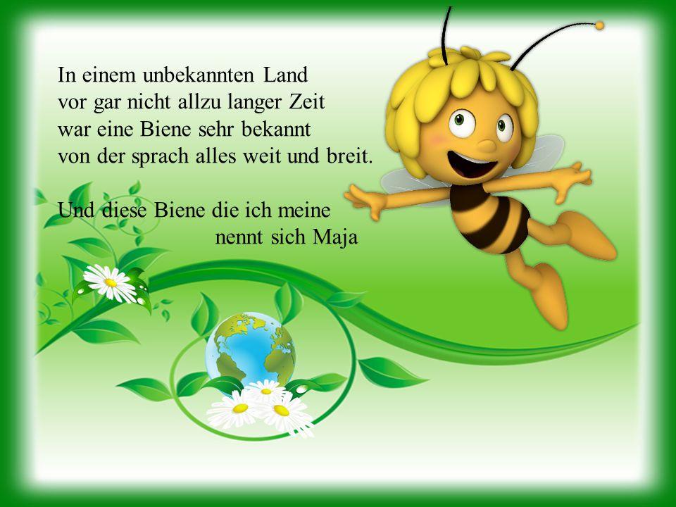In einem unbekannten Land vor gar nicht allzu langer Zeit war eine Biene sehr bekannt von der sprach alles weit und breit.