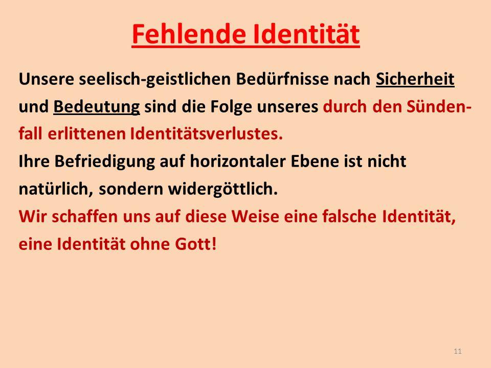 Fehlende Identität