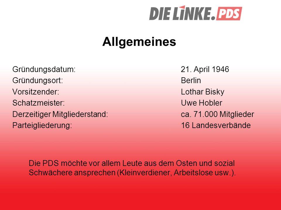 Allgemeines Gründungsdatum: 21. April 1946 Gründungsort: Berlin