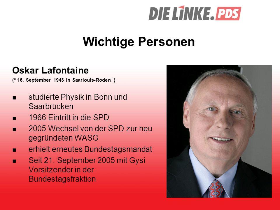 Wichtige Personen Oskar Lafontaine