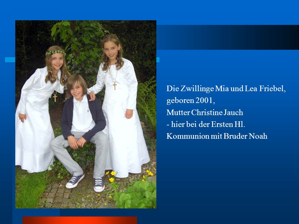 Die Zwillinge Mia und Lea Friebel,