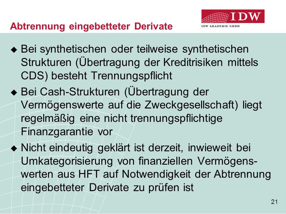 Abtrennung eingebetteter Derivate