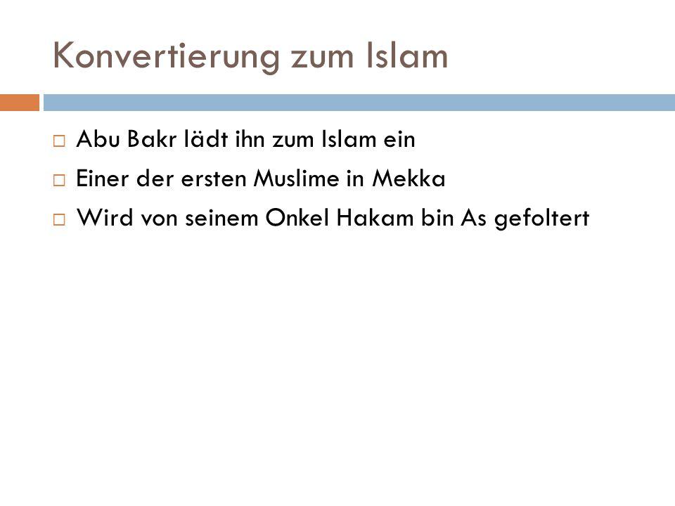 Konvertierung zum Islam
