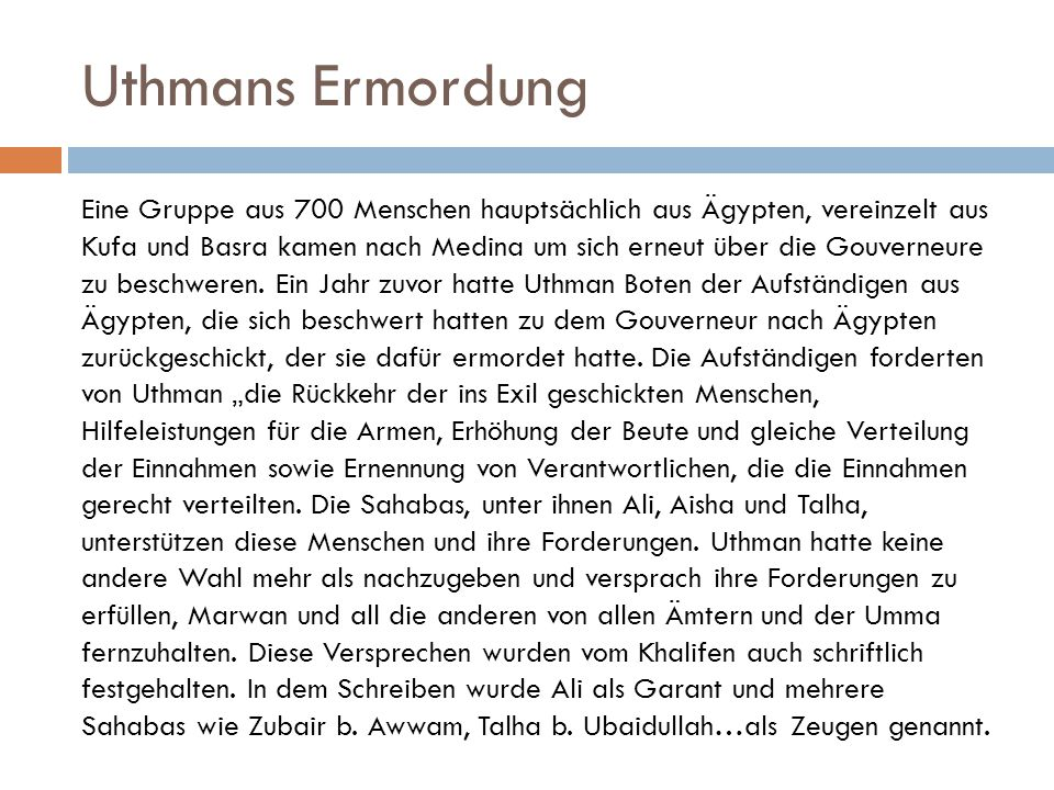 Uthmans Ermordung