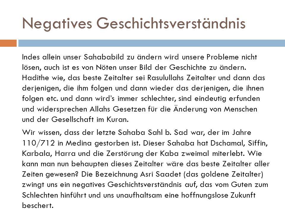 Negatives Geschichtsverständnis