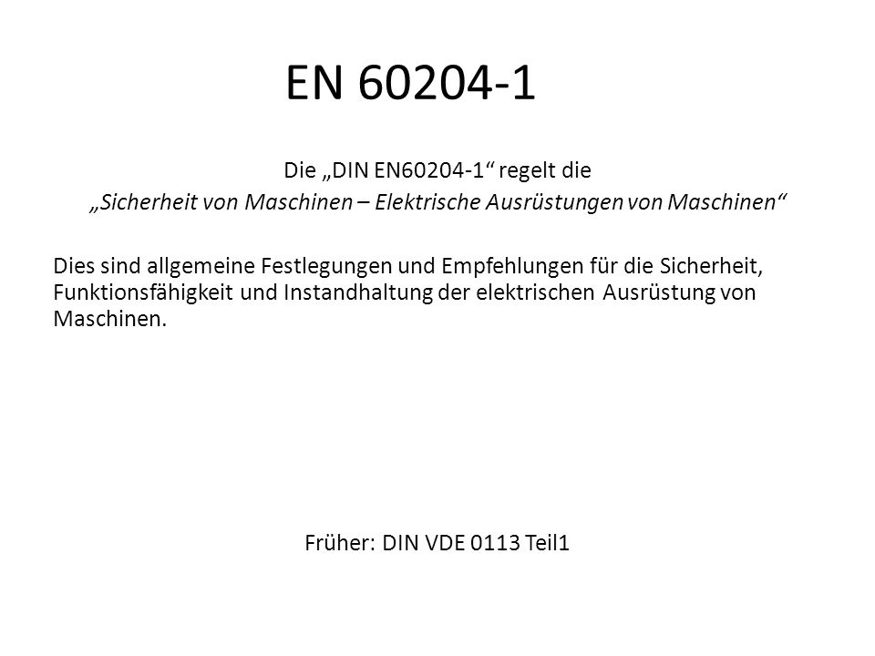 EN 60204-1