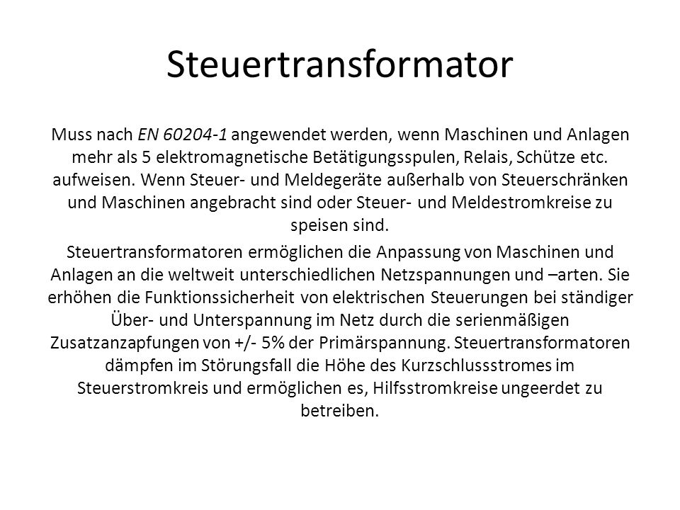 Steuertransformator