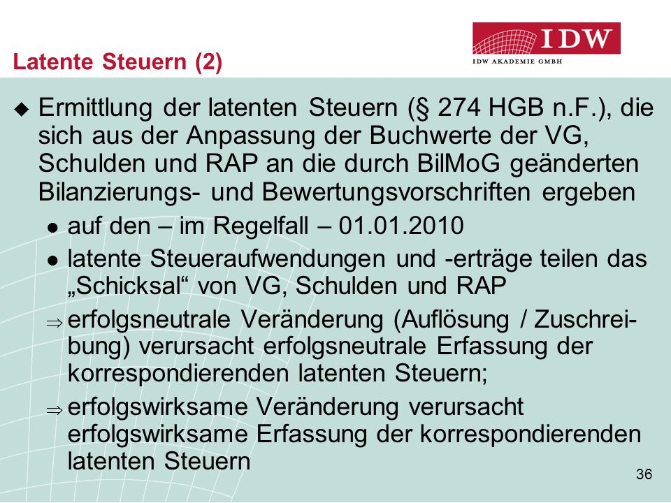 Latente Steuern (2)