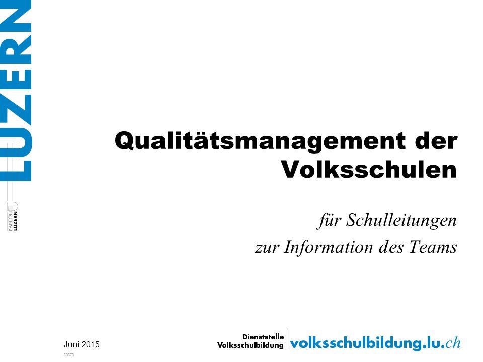 Qualitätsmanagement der Volksschulen