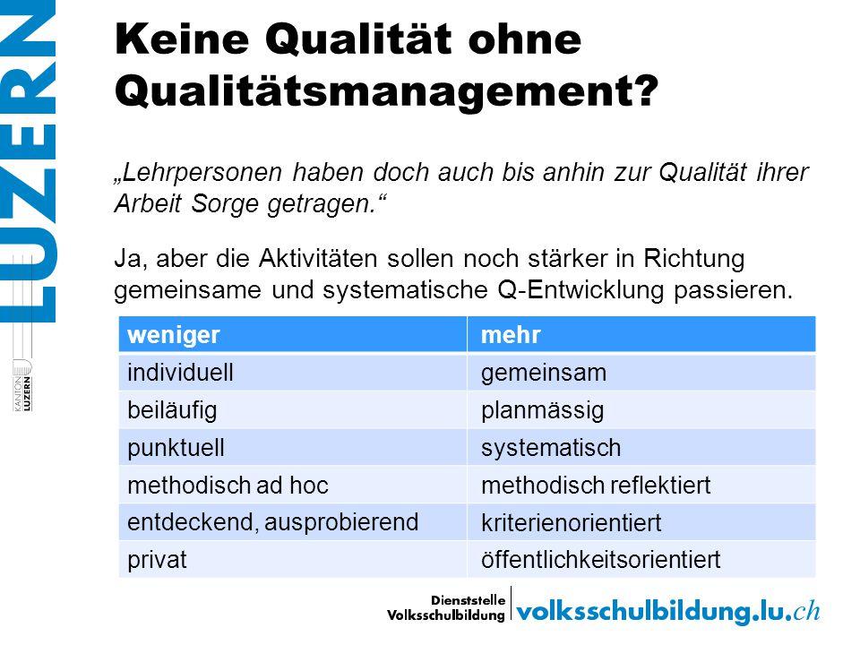 Keine Qualität ohne Qualitätsmanagement