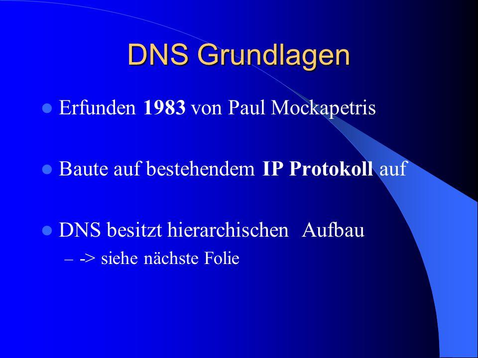 DNS Grundlagen Erfunden 1983 von Paul Mockapetris