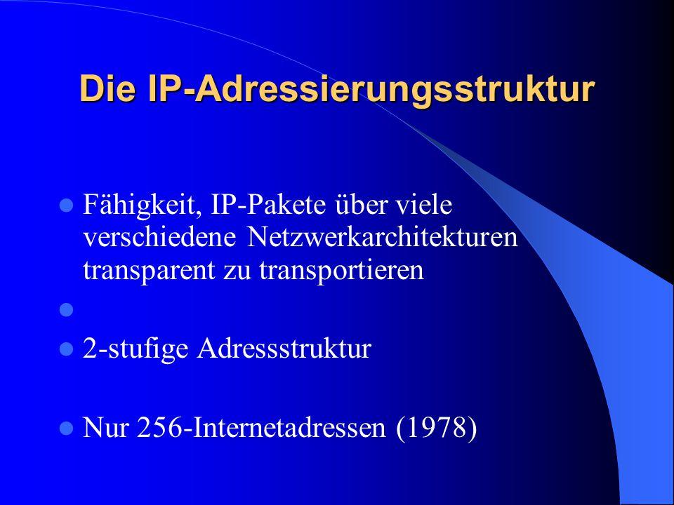 Die IP-Adressierungsstruktur