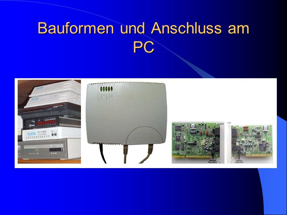 Bauformen und Anschluss am PC