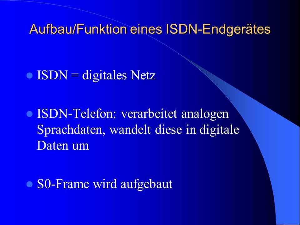 Aufbau/Funktion eines ISDN-Endgerätes