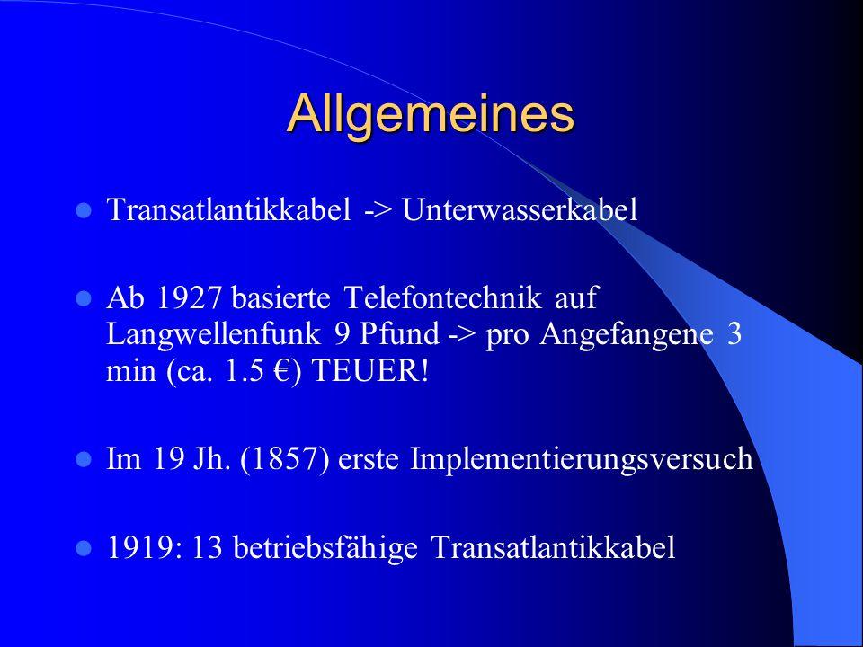 Allgemeines Transatlantikkabel -> Unterwasserkabel