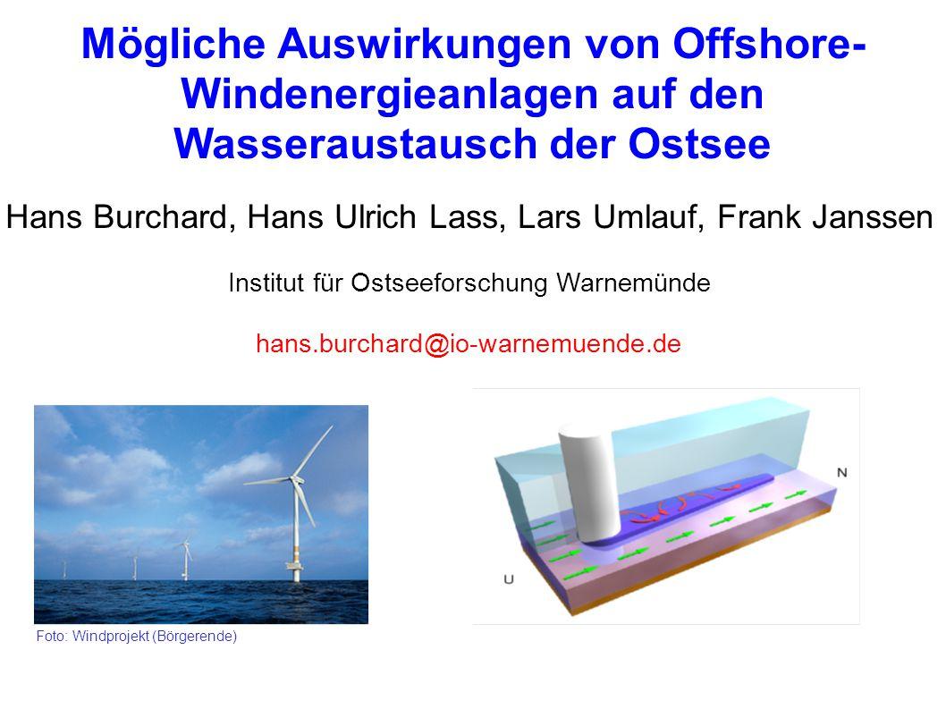 Mögliche Auswirkungen von Offshore-Windenergieanlagen auf den Wasseraustausch der Ostsee