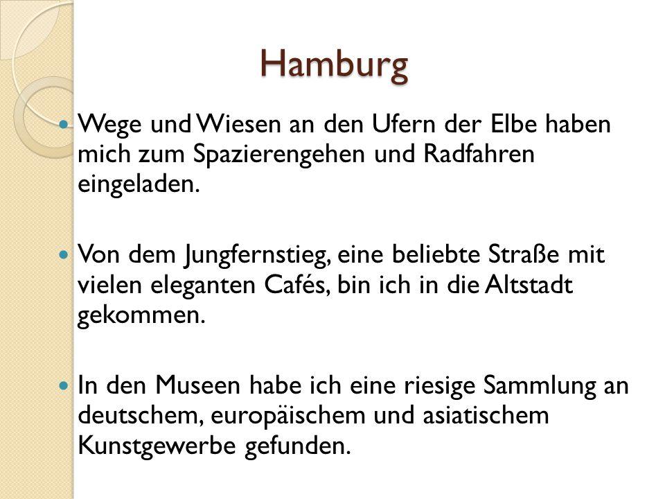 Hamburg Wege und Wiesen an den Ufern der Elbe haben mich zum Spazierengehen und Radfahren eingeladen.