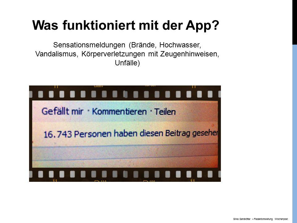 Was funktioniert mit der App