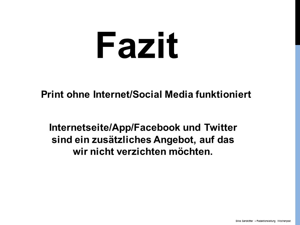 Print ohne Internet/Social Media funktioniert